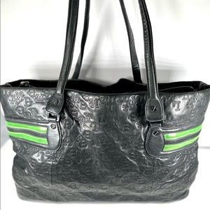 L.A.M.B. Embossed Leather Tote Bag